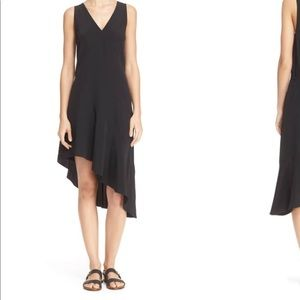 Tibi asymmetrical silk dress size6